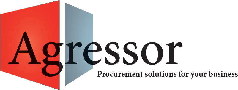 "Agressor logo with tagline ""Procurement solutions for your business"""